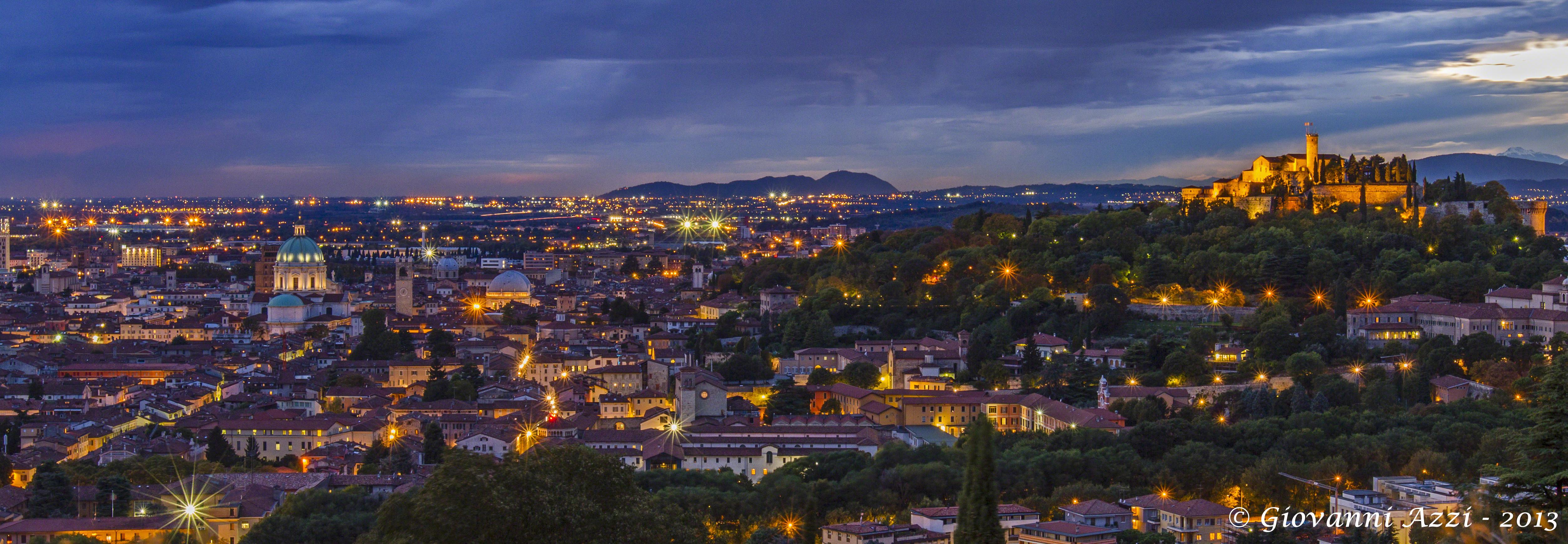 Brescia a sera